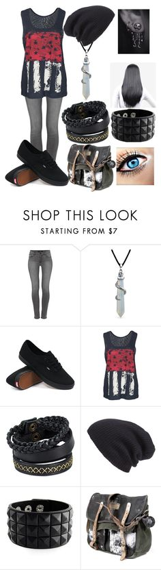 """""""Untitled #115"""" by kamyers182 ❤ liked on Polyvore featuring J Brand, Bling Jewelry, Vans, Rut&Circle, Pieces and Leith"""