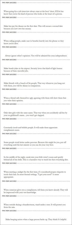 15 tips for succes