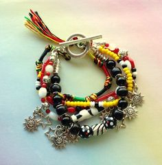 African Rasta Style Multistrand Charm and by MAGICALUNIVERSE