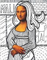 Art Projects for Kids: Make a Mona Lisa, FREE Download