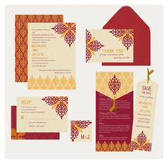 Indian Wedding Invitation Fancy Motif Inspired by InvitationShop, $1.20