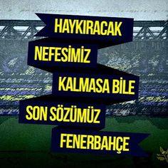 Haykıracak nefesimiz kalmasa bile son sözümüz Fenerbahçe! #fenerbahce #fenerbahcetribun #nkcvas #instafb