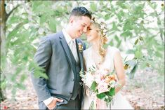 Pink Garden Wedding Inspiration - Love The Bride's Flower Crown And Ribbon Bouquet Kmd Creations Light Pink Bouquet, Flower Crown Bride, Ribbon Bouquet, Garden Wedding Inspiration, Wedding Bouquets, Wedding Dresses, Pink Garden, Garden Styles, Bridal Style