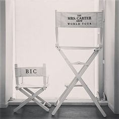 So ready for Beyonce's Mrs. Carter show tomorrow.. Beyonce Shares Blue Ivy's Mini Director's Chair for Her Concert Tour