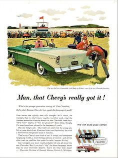 1956 Chevy Bel Air, Chevrolet Bel Air, Chevy Sports Cars, General Motors Cars, Chevy Vehicles, Car Brochure, Learning To Drive, Car Advertising, Vintage Ads