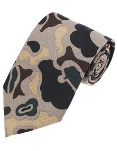 FLATSEVEN Homme Designer Motif Militaire Camo Cravate (YA001) Beige  #FLATSEVEN #vetement #fashion #homme #Cravate