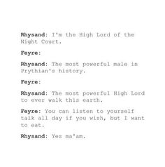 Rhys bows to no one except Feyre