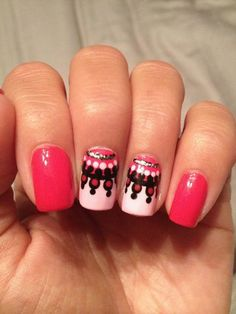 I  Pink! so This Would Be A Really Fun Way To Spice Up My Nails 