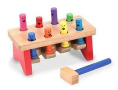 "Melissa & Doug Pounding Bench - I'm a sucker for classic wooden toys and what little boy wouldn't like to beat on something with a wooden hammer without hearing ""No!"""