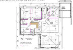 Four Bedroom House Plans, New House Plans, How To Plan, Autocad Revit, Architectural House Plans, Model House Plan, Building Structure, House Layouts, Arquitetura