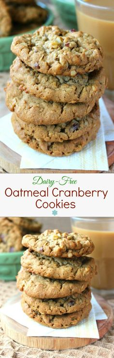 Dairy-Free Oatmeal Cranberry Cookies are chewy crisp cookies with a flavorful spark of dried cranberries. Mix, drop and bake for a delicious treat.