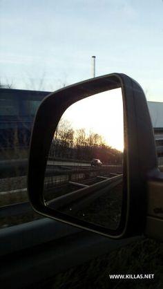 Morgens auf der Autobahn