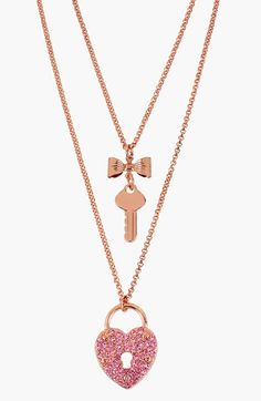 Betsey Johnson Double Layer Pendant Necklace available at #Nordstrom