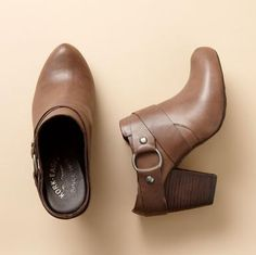 KORK-EASE COURTNEY HIGH-HEEL CLOGS--With jeans or pants, it could be a boot