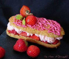 eclairs with fruit | Eclair à la fraise | Eclairs | Pinterest