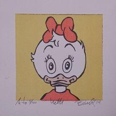 """Lithography """"Portrett av Hetti"""". 10x10 cm. Artist: Ronny Bank. Want it? Go to http://artbyhand.no/produkt/billedkunst/portrett-av-hetti"""
