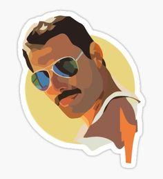 Freddie Sticker Tumblr Stickers, Cool Stickers, Printable Stickers, Laptop Stickers, Patches Tumblr, Posca Art, Queen Art, New Sticker, Aesthetic Stickers