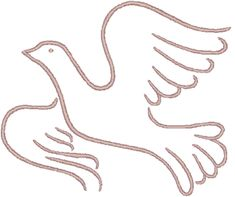 Windstar_Dove in Outline Embroidery Design