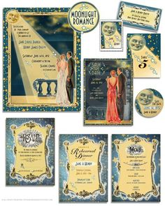 On the Creative Market Blog - Design Your Perfect Wedding Invitations: Art Deco/Gatsby Style