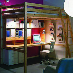 "Visit our site for more information on ""murphy bed ideas ikea queen size"". It is… – Loft İdeas 2020 Ikea Bunk Bed, Bunk Bed With Desk, Murphy Bed Ikea, Bunk Beds With Stairs, Kids Bunk Beds, Ikea Loft, Desk Bed, Ikea Bedroom, Bedroom Loft"