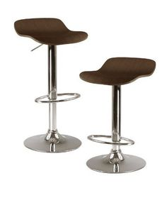 Winsome Kallie Air Lift Adjustable Stools in Wood Veneer with Cappuccino Color and Metal Base, Set of 2 Winsome Wood http://www.amazon.com/dp/B003QCJHHG/?tag=ipinterest-20
