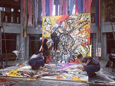 Œuvres en direct  #bruxelles #brussels #bruxellesmabelle #bxl #bx #bxlove #bybrussels #bruxellestagram #bruxellesjetaime #bxl_online #visitbrussels #igbrussels #bxlcult #belgique #belgium #welovebrussels #brusselslove #art #artist #artwork #japan #goodvibes #color