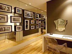 Construindo Minha Casa Clean  #corredor #espelho #composição #quadros