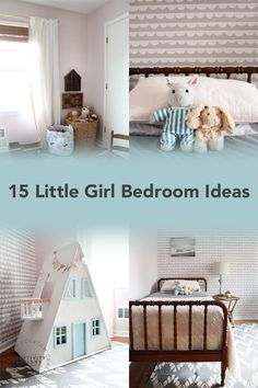 Decorating a room for your daughter? These 15 little girl bedroom ideas will help you plan a room that's practical, affordable, and pretty! Little Girl Bedroom Designs | Little Girl Bedroom Decor | Little Girl Bedroom Ideas DIY | Pink Bedroom for Girls | Pink Bedroom Ideas | Pink Bedroom Decor | Little Girl Bedroom Themes | Girl Bedroom Ideas on a Budget