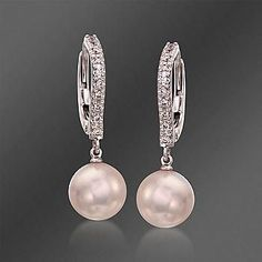 18Kt White Gold Dangle Brown cultivated pearl with Gold Beads Charm Length 26mm with bail//7mm Bottom cultivated pearl