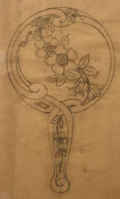 Original Pencil design for ladies' hand mirror #books #art