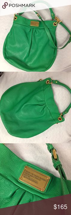 """Green Leather Marc Jacobs Bag Soft Leather Bag with magnetic closure 14.5""""H 15""""W Marc by Marc Jacobs Bags"""