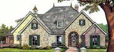 European Tudor House Plan 2462 ft2