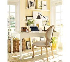 Home interior paint schemes chairs Super ideas Yellow Home Offices, Yellow Office, Home Office Design, Home Office Decor, Home Decor, Ikea Office, Office Ideas, Interior Paint Colors, Interior Design