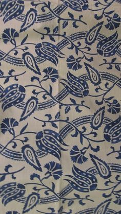blue cotton designer fabric