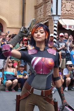 Star Wars Weekends 2014 pictures blog post. Sabine Wren from the new animated tv series Star Wars Rebels. Mouse University Online