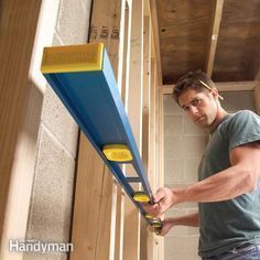 One bowed stud can make a whole wall look bad. Before you hang the drywall, fix badly warped studs so that the finished wall will look straight and true.