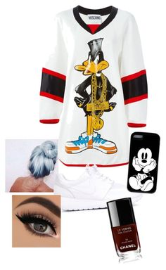 """""""Untitled #24"""" by dachiri on Polyvore featuring Moschino, NIKE and Chanel"""