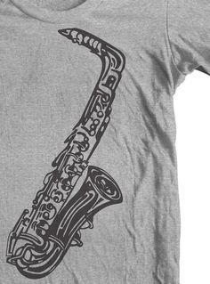cae140d7 Saxophone t shirt. Jazz t shirt. Woodwinds accessories. Alto Sax Jazz tee.