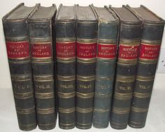 Green Leather Bound Cassell s History of England Columes 1-6 & 9 1855-1877