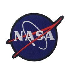 Embird La NASA Logo termoadhesivo/para coser parche azul