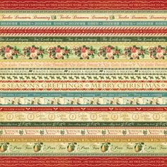 """The front of """"Joyeux Noel"""" from our new collection, The Twelve Days of Christmas! #graphic45 #newpapercollections #christmas"""