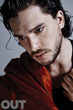 Kit Harrington of Game of Thrones, in Dries Van Noten, shot by Nino Muñoz for OUT Magazine