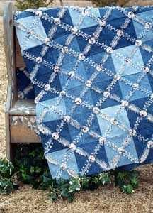 Blue jean quilt. My favorite Aunt made these for my boys when they were young! LOVE Denim Quilts!!!
