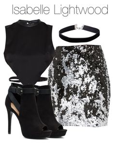 A fashion look from November 2017 featuring high neck crop top, silver skirt and black booties. Browse and shop related looks. Teen Girl Outfits, Girls Fashion Clothes, Edgy Outfits, Cute Casual Outfits, Fashion Outfits, Shadowhunters Outfit, Mode Kpop, Fandom Outfits, Look Fashion