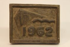 Class of 1962 bronze time capsule cover Class Design, Time Capsule, Bronze, Display, Cover, Floor Space, Billboard