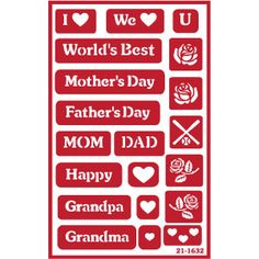 With Mother and Fathers day just around the corner, this Armour Products glass etching stencil has everything you need for unique, custom gifts you make yourself using Armour glass etching cream. Available @ www.etchworld.com. Visit our project corner @ www.etchtalk.com