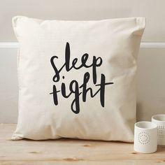 Sleep Tight Cushion Cover from notonthehighstreet.com