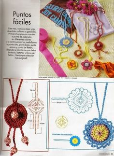 Grace y todo en Crochet: ACCESORIOS PARA PRINCIPIANTES...ACCESSORIES FOR BE...