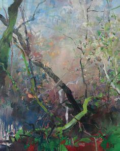 Painter's Process - Randall David Tipton: Rainforest Autumn 2 oil on canvas 20x16