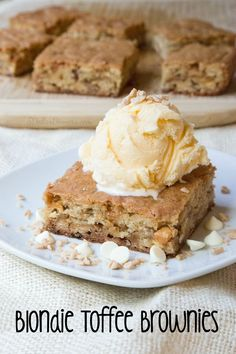 A delicious recipe for Blondie Toffee Brownies on 5DollarDinners.com